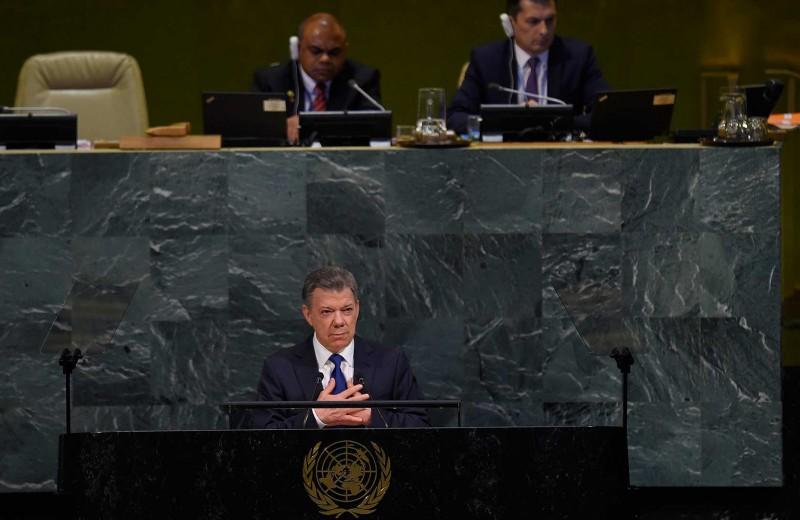 """""""La paz es una misión difícil, pero no imposible"""", dijo Santos en la ONU"""