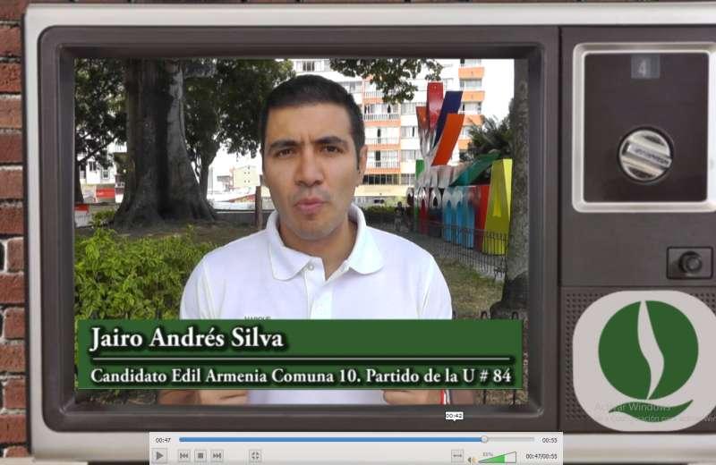 Jairo Andrés Silva, candidato a Edil de la comuna 10 en Armenia