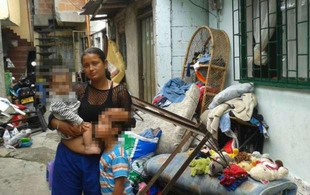 Madre cabeza de hogar fue desalojada en el barrio Patio Bonito Alto
