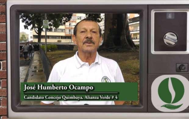 José Humberto Ocampo, candidato al Concejo de Quimbaya