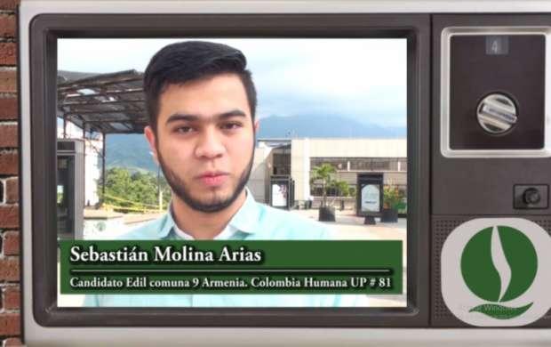 Sebastián Molina Arias, candidato Edil comuna 9 Armenia