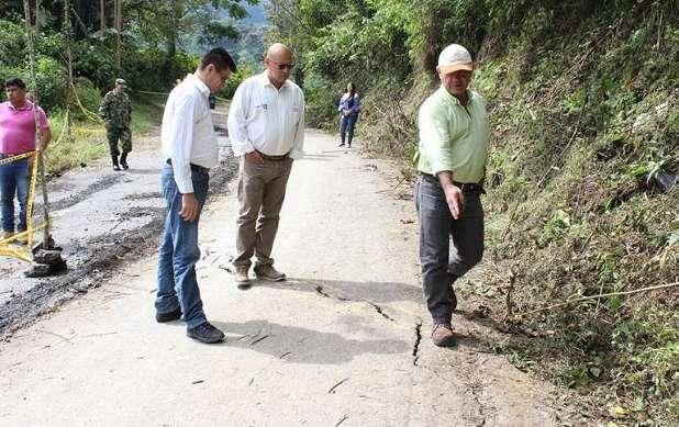 Obras- Vía Río Verde-Pijao